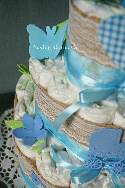 Torta di pannolini idea regalo - Diaper cake gift idea