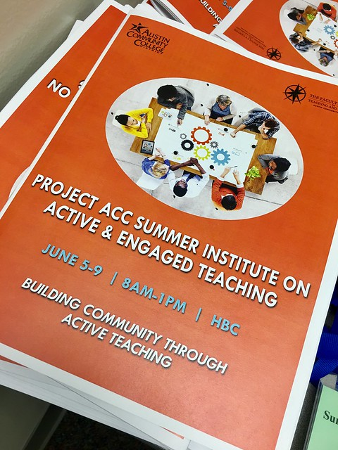 Project ACC Summer Institute on Active & Engaged Teaching [June 2017]
