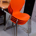 Stackable plastic chairs