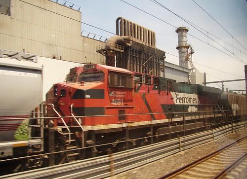 Tren Suburbano - Ferromex Train Outside Power Plant