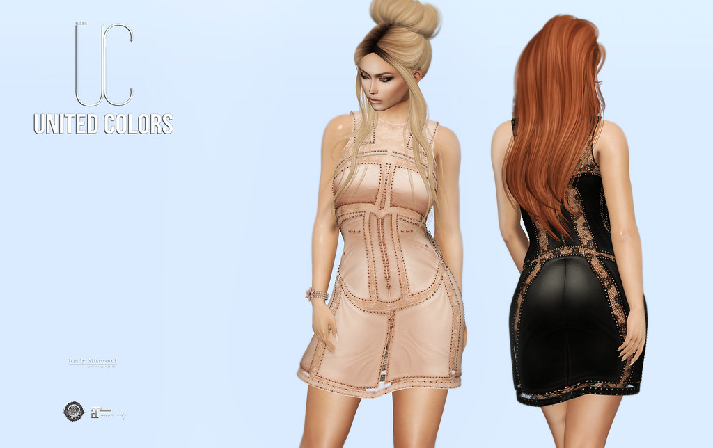 United Colors UC Taylor Leather Dress available in 10 colors at Tres Chic Event June 17 - SecondLifeHub.com
