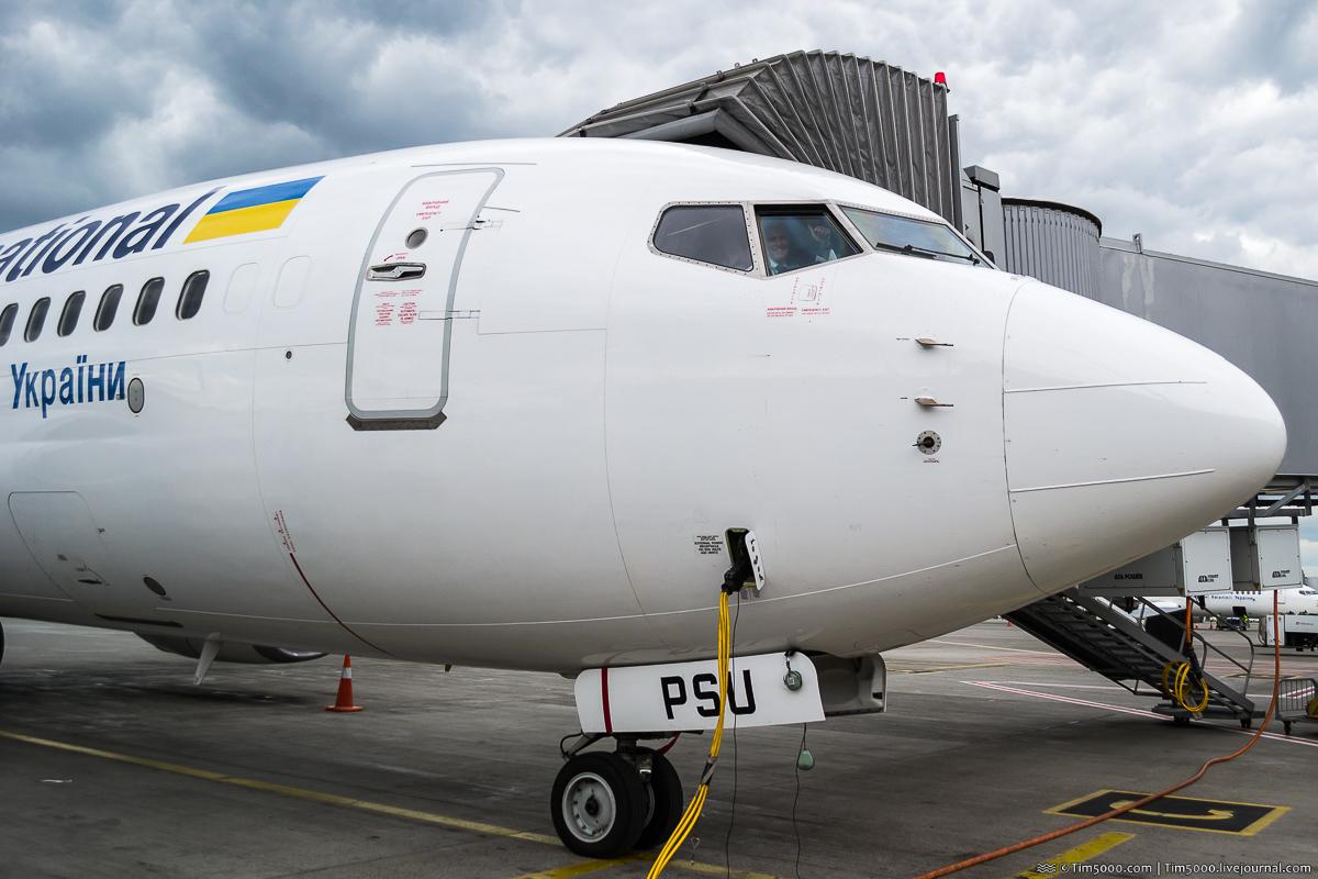 приветствие от пилота МАУ Boeing 737-800 UR-PSU