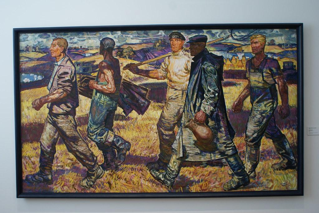 """Edgars Iltners """"Maîtres de la terre"""" (1960) - Musée National d'art de Lettonie"""