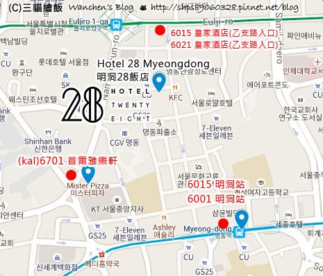 hotel 28 myeongdong map
