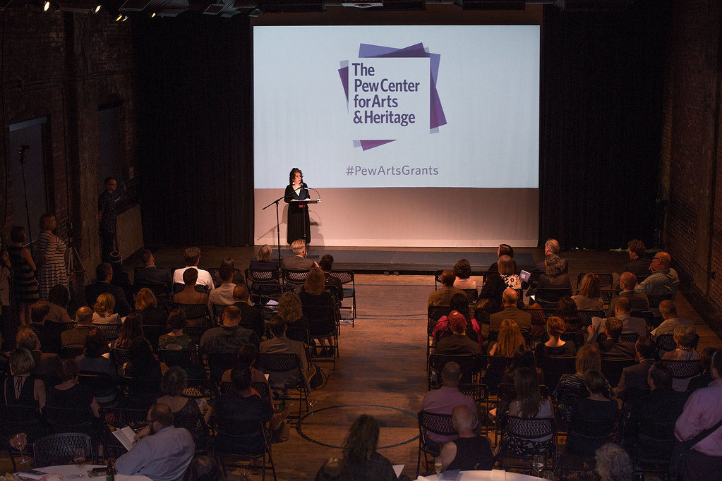 Paula Marincola, Executive Director, The Pew Center for Arts & Heritage announces the 2017 grantees. Photo by Shannon Collins.