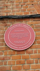 Photo of Brooklands red plaque