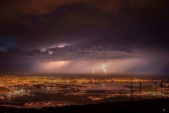 Santander Thunderstorm from Peña Cabarga