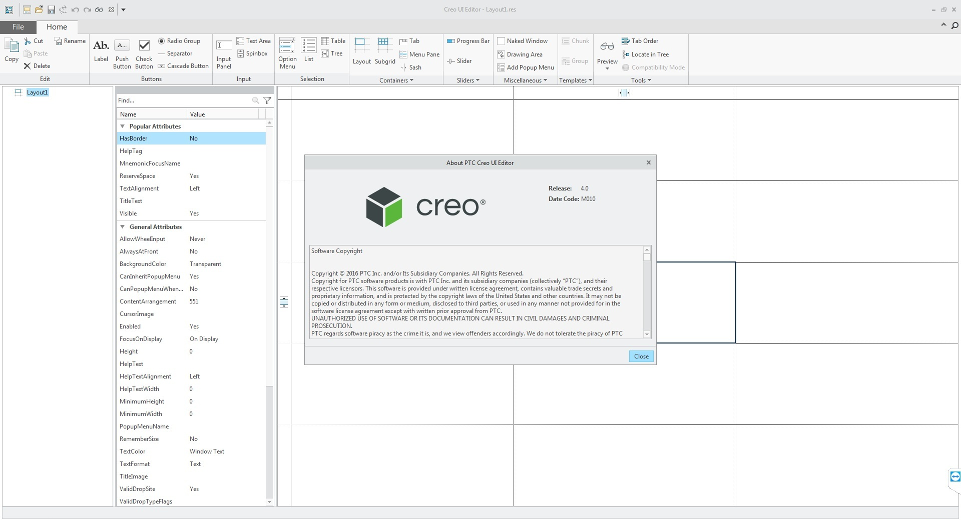 PTC CREO 4.0 M010 UI Editor full license