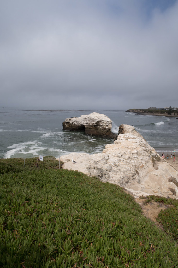 View from Overlook at Natural Bridges State Beach