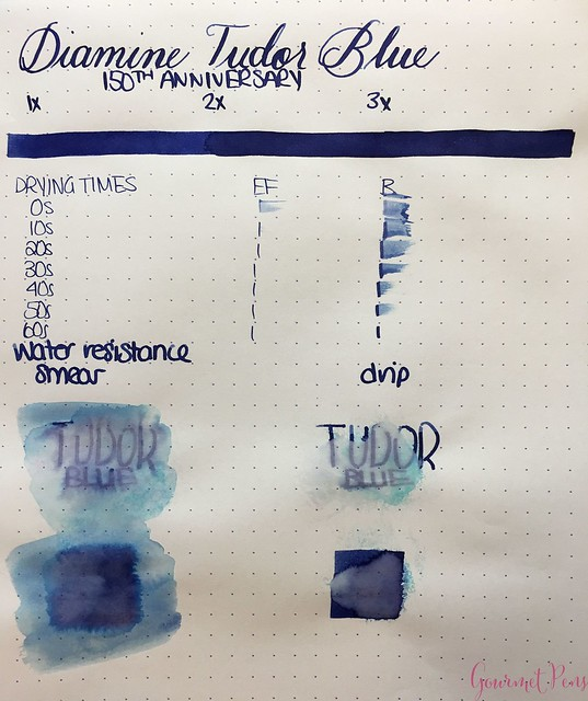 Ink Shot Review Diamine Anniversary Tudor Blue @AppelboomLaren 2
