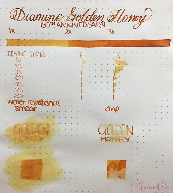 Ink Shot Review Diamine Anniversary Golden Honey @AppelboomLaren 2