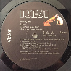 THE MEIN INGREDIENT:READY FOR LOVE(LABEL SIDE-A)