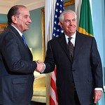 Photos of U.S. Secretary of State Rex Tillerson and top leadership in Washington, D.C., in June 2017.