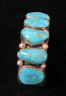 Navajo Dead Pawn silver bracelet with 7 stones, Native American Design Bracelet