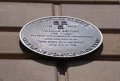 Photo of Thomas Bewick black plaque