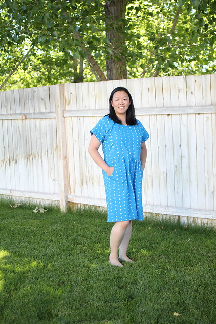 The Forsythe Dress by French Navy sewn by replicate then deviate