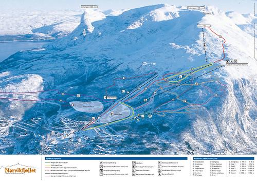 Narvik - mapa sjezdovek