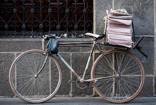 Newspaper bicycle