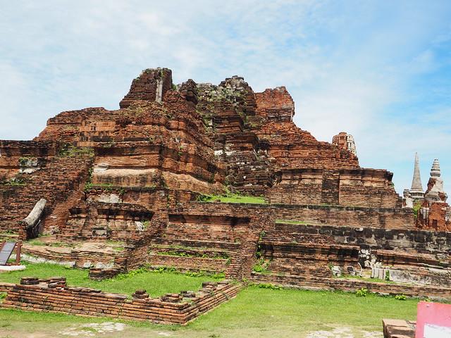 P6222667 ワット・マハータート(Wat Mahathat/วัดมหาธาตุ) アユタヤ タイ thailand 世界遺産