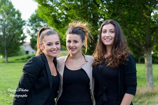 Des élèves du lycée professionnel Marcelle Pardé ont maquillé les candidates de l'élection Miss Bresse