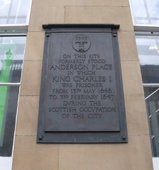 Photo of Charles I stone plaque