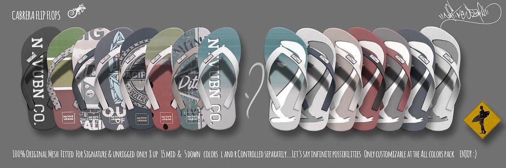 -NU- Cabrera Flip Flops - TeleportHub.com Live!