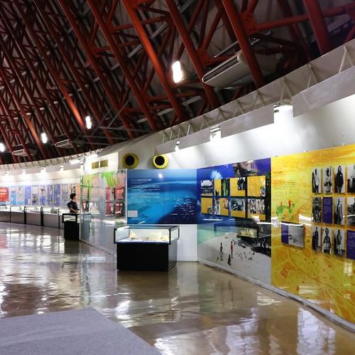 第五福竜丸と、水爆実験などについての資料展示。