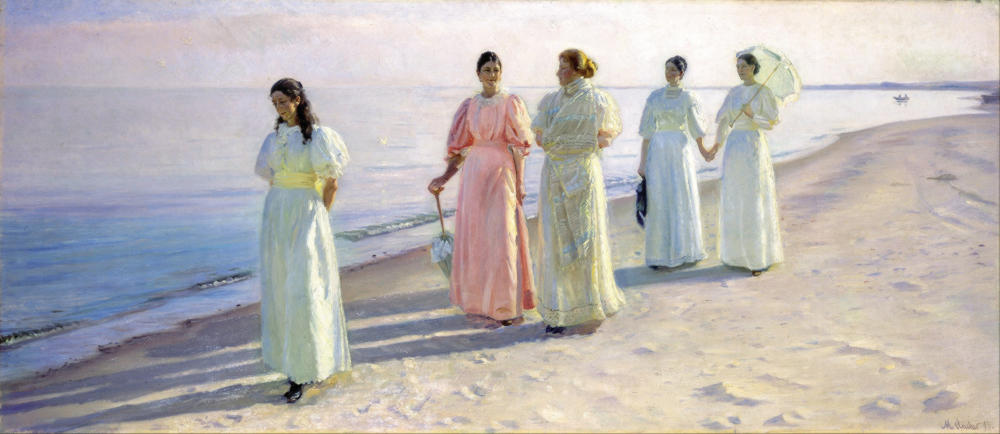 A Stroll on the Beach by Michael Ancher, 1896