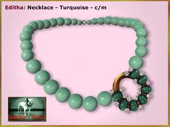 Bliensen - Editha - turquoise - necklace