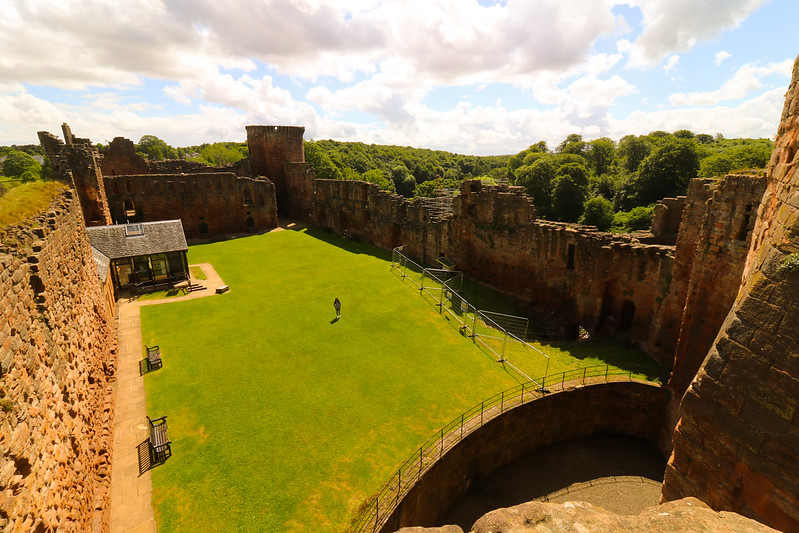 Bothwell Castle, shot from the Keep