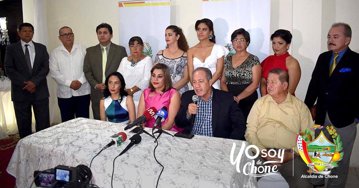 Comité de Festividades presentó a las candidatas a Reina de Chone 2017