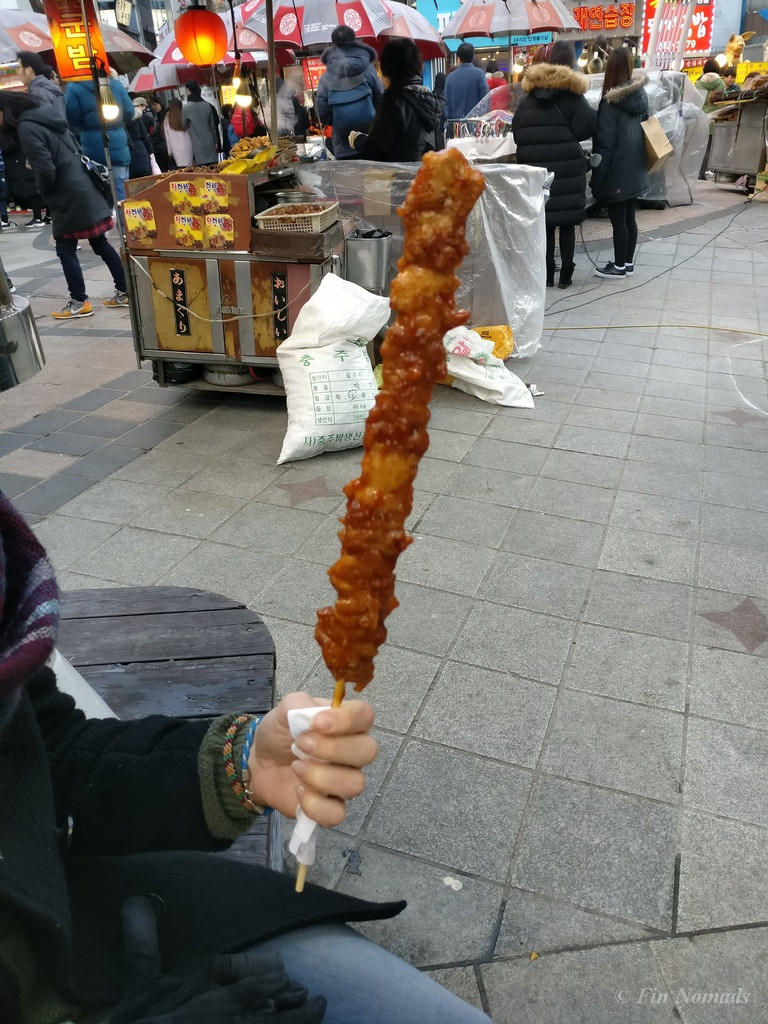 Korean meat skewer