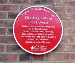 Photo of High Main Coal Seam red plaque