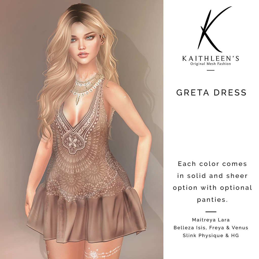 Kaithleen's Greta Dress - SecondLifeHub.com