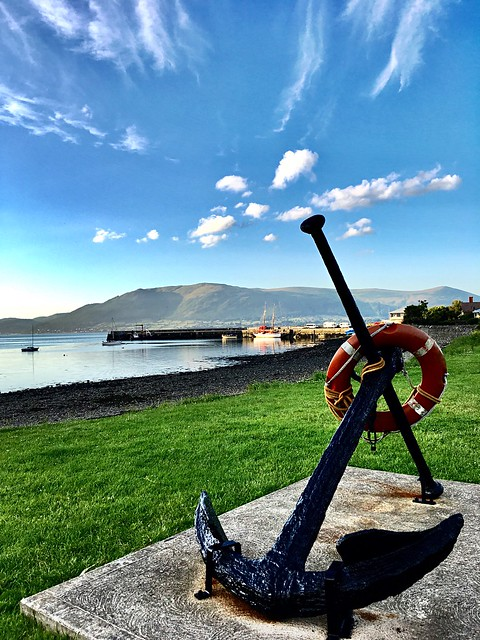 Carlingford yesterday evening looking out over the Loughran towards Rostrevor.