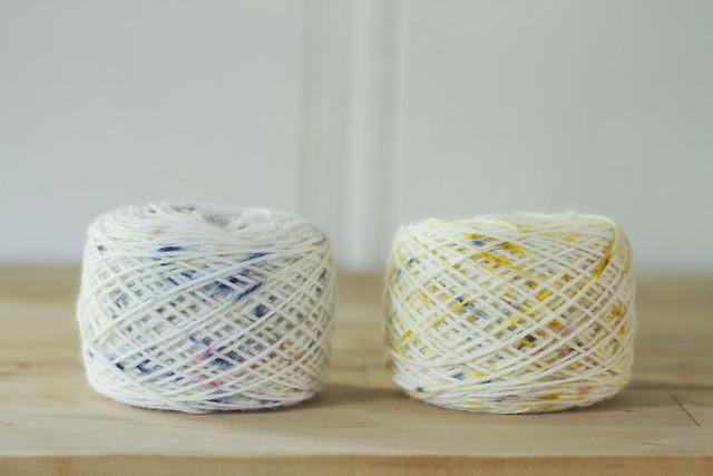 petal-dyed yarn