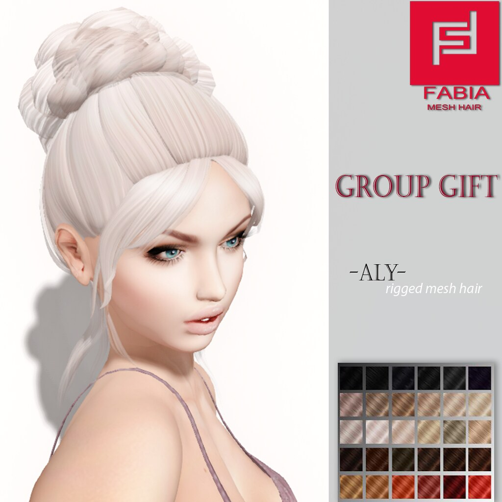 -FABIA- Mesh Hair  Group Gift < Aly> - SecondLifeHub.com