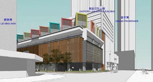 鯉景灣綜合大樓工程拖延8年,現在只有構想圖