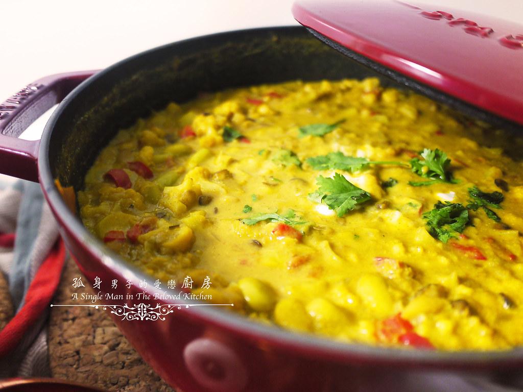 孤身廚房-Staub媽咪鍋煮超滿的印度蔬食花椰菜咖哩52