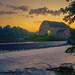 Hunterdon County Art Museum  At Sunrise, Clinton NJ by Steve Fretz