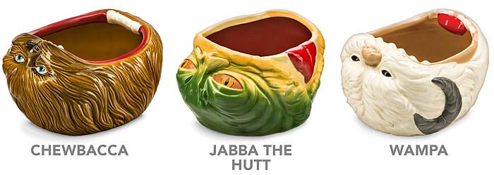 雪怪的血盆大口太療癒!!ThinkGeek【星際大戰點心碗】Star Wars Snack Bowls