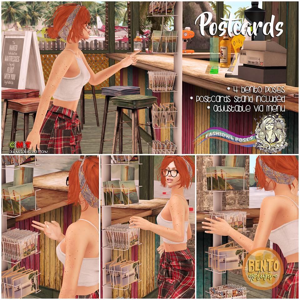 =fashiowl poses= Postcards - SecondLifeHub.com