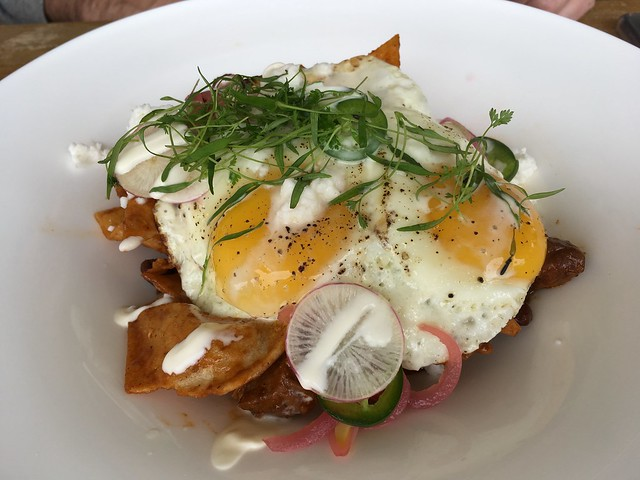 Niman Ranch pork chilaquiles - The Restaurant at JUSTIN