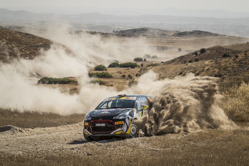 21 MANNOURIS Christos (cyp) and CHRYSOSTOMOU Andreas (cyp) GLASURIT RALLY TEAM CITROEN DS3 R3T action during the 2017 European Rally Championship ERC Cyprus Rally,  from june 16 to 18  at Nicosie, Cyprus - Photo Gregory Lenormand / DPPI