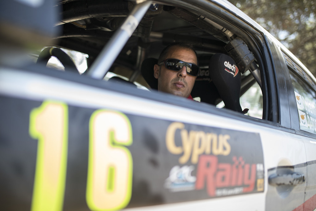 DENNER Deniz (cyp) and TOPCU Omer (cyp) DENIZ DENNER MITSUBISHI LANCER EVO X ambiance portrait during the 2017 European Rally Championship ERC Cyprus Rally,  from june 16 to 18  at Nicosie, Cyprus - Photo Gregory Lenormand / DPPI