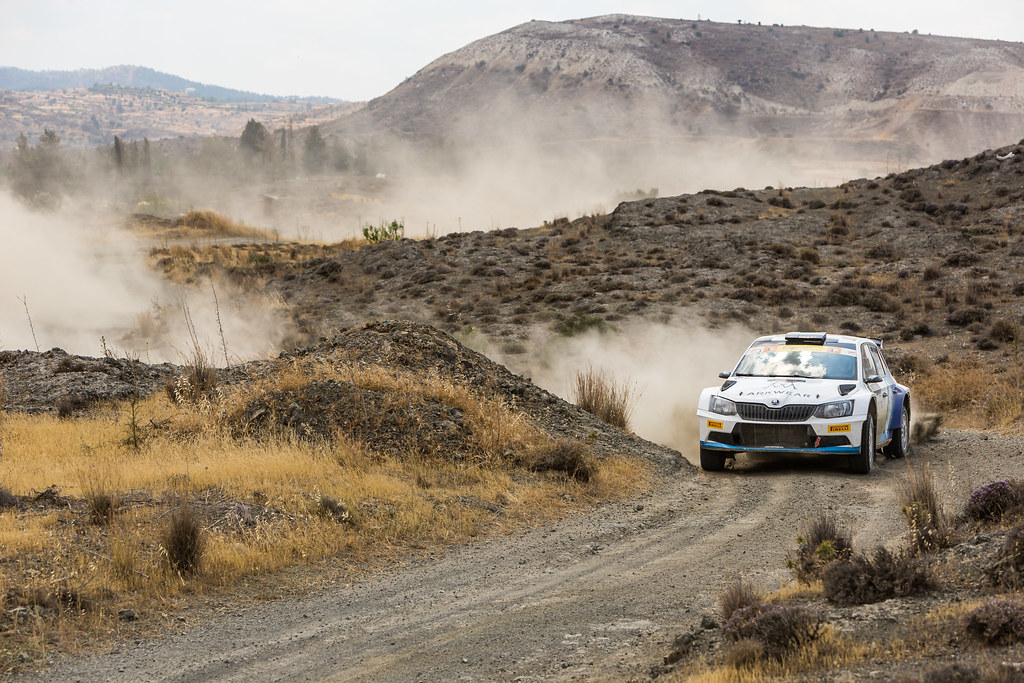 07 VON THURN UND TAXIS Albert (deu) and DEGANDT Bjorn (bel) ALBERT VON THURN UND TAXIS SKODA FABIA R5 action during the 2017 European Rally Championship ERC Cyprus Rally,  from june 16 to 18  at Nicosie, Cyprus - Photo Thomas Fenetre / DPPI