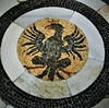 Eagle - mosaic (1620-1626) as coat of arms of the pope Paul V Borghese - Floor of  San Crisogono Church in Rome