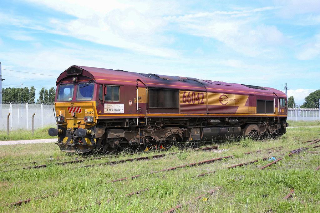 66042 at Frethun.stabling point