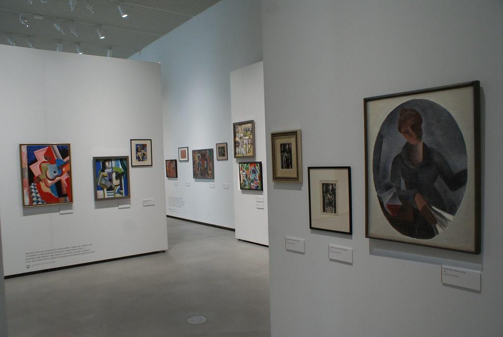 Peintures dans le musée national d'art de Riga en Lettonie.