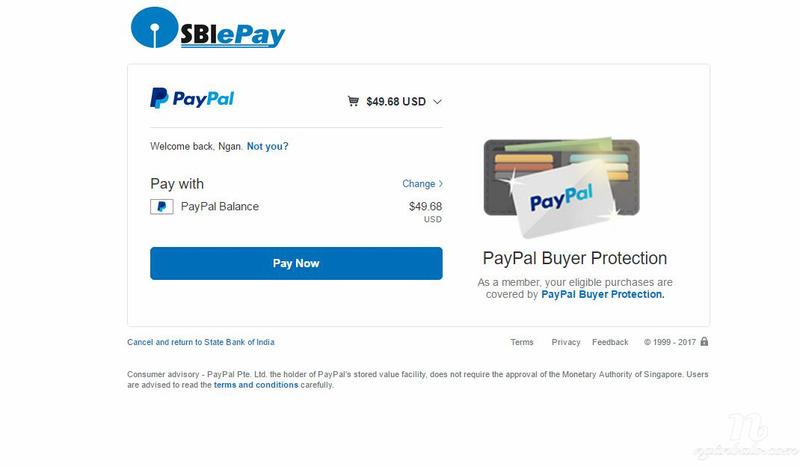 Cách thanh toán phí e-visa Ấn Độ (visa xin online)